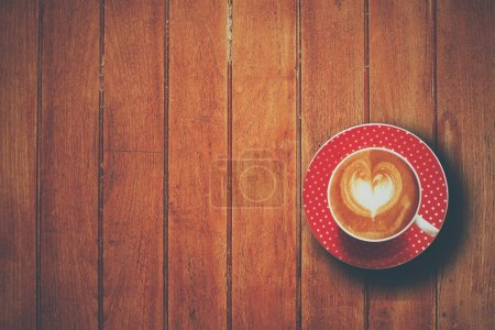Photo for Coffee latte art in coffee shop - Royalty Free Image
