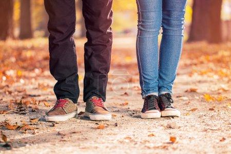 man woman leg couple