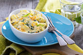 Baked macaroni and cheese with pumpkin