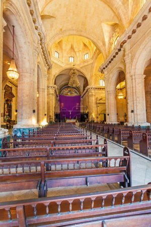 Interior of Havana Cathedral of The Virgin Mary (1748-1777), Cub