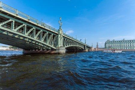 Trinity Bridge across the Neva in Saint Petersburg