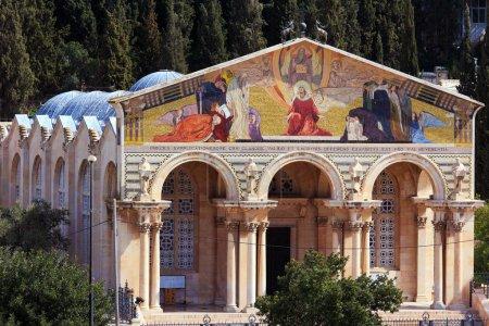 Photo pour Église de toutes les Nations sur le Mont des oliviers, Jérusalem, Israël - image libre de droit