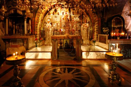 Golgotha Mountain, Temple of the Holy Sepulcher in Jerusalem