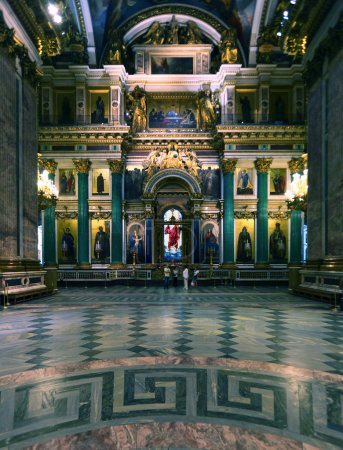 Interior of Isaac Cathedral, Saint Petersburg