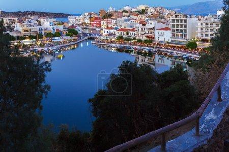 Agios Nikolaos City at Night, Crete, Greece
