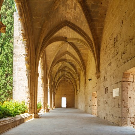 Gallery in Bellapais Abbey, Kyrenia, North Cyprus