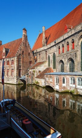 Old Houses with Museum of Memling, Bruges