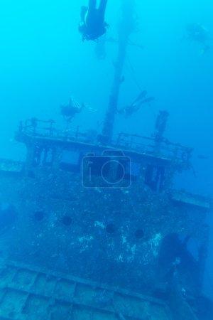 Shipwreck and Scuba Diver, Maldives