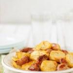 Balsamic Roast Potato with Unpeeled Garlic, Eschal...