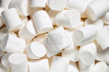 White Marshmallow background.