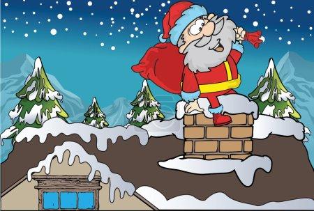 Illustration pour Voici l'art vectoriel Santa - image libre de droit
