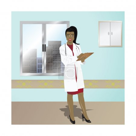 Illustration vectorielle femme médecin