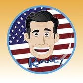 vector of willard mitt romney vote button