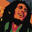 Постер, плакат: Bob marley clipart illustration