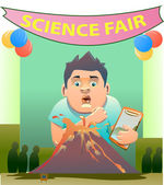 clip art of volcanic eruption on science fair