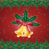 Clip art image of Christmas bells wallpaper