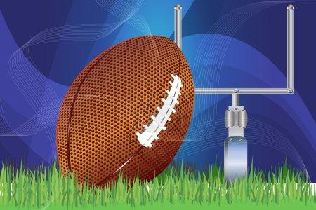 vector football  clipart illustration