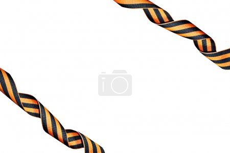 St George ribbon isolated on