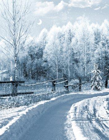 invierno en el pueblo