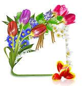 """Постер, картина, фотообои """"весенние цветы. структура"""""""
