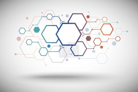 Illustration for Abstract background consisting of set of hexagonal cells. Vector Graphics - Royalty Free Image