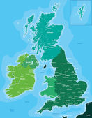 Color map of Great Britain and Ireland