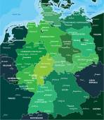Color map of Germany