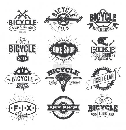 Typographic Bicycle Label Design and Logo