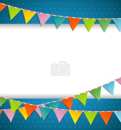 Ilustración de Ilustración de vector de banderas de color de partido del empavesado - Imagen libre de derechos