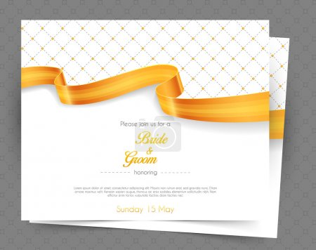 Illustration for Vector illustration of Wedding invitation - Royalty Free Image