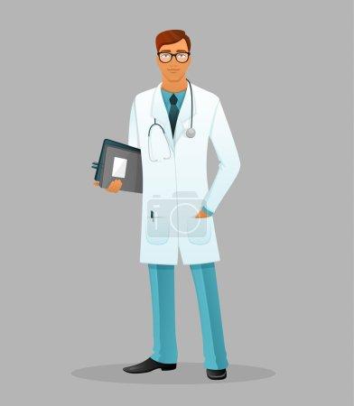 Illustration pour Illustration vectorielle du Docteur homme - image libre de droit