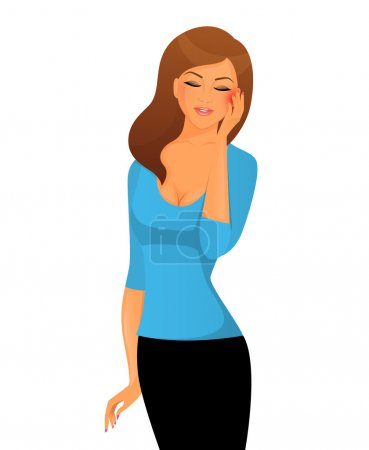 Sick woman character image