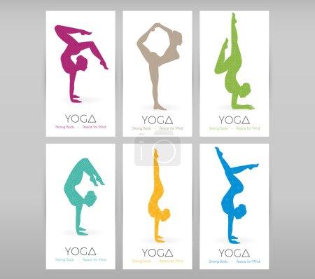 Women doing yoga asanas