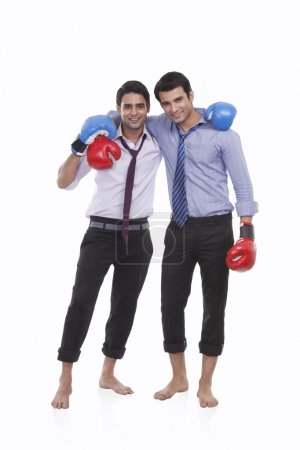 executives with boxing gloves