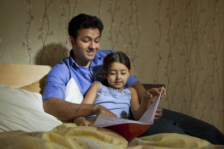 Father reading a story