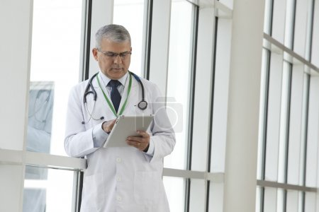 Doctor with a digital tablet