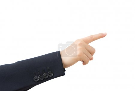 Business hand pointing