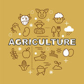 agriculture minimal outline icons