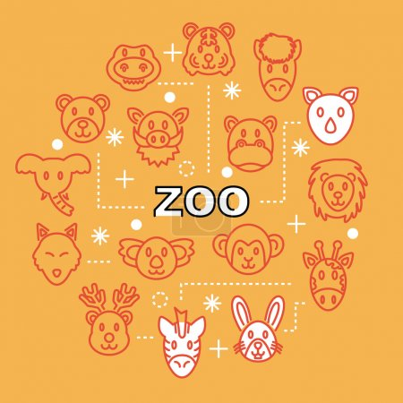 Zoo minimal outline icons