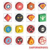 superhero isometric logo