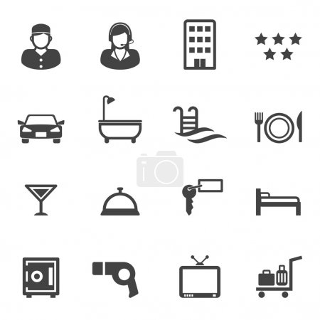Hotel and resort service icons