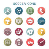 soccer long shadow icons
