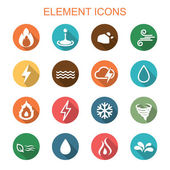 element long shadow icons
