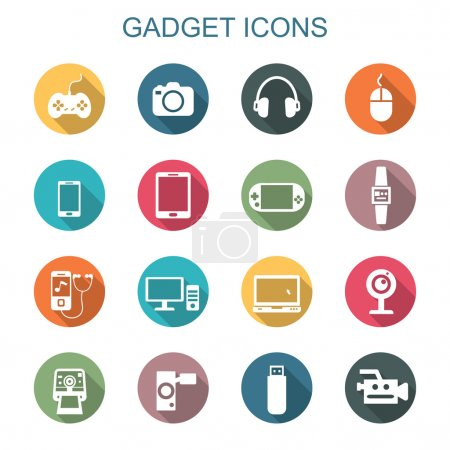 gadget long shadow icons