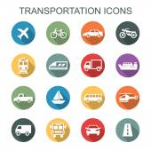 transportation long shadow icons
