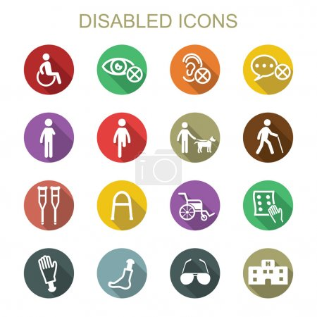 disabled long shadow icons