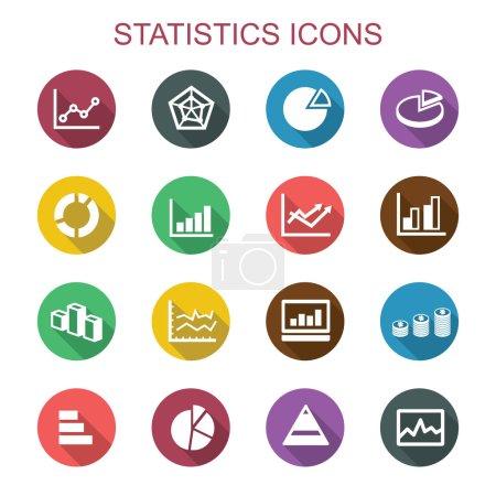 statistics long shadow icons