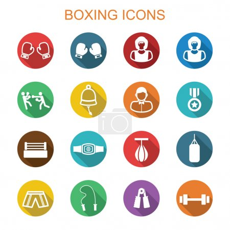 Boxing long shadow icons