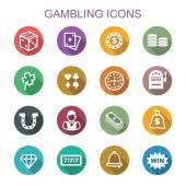gambling long shadow icons