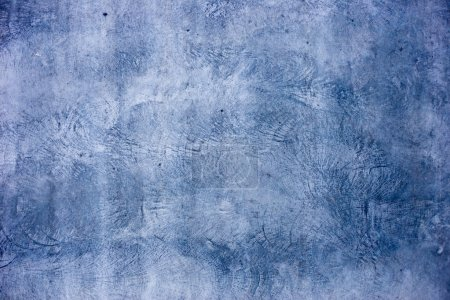 Grunge blue concrete wall background or texture